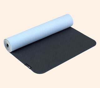 Yogimat PRO anthracite-skyblue, 183 x 61 cm x 5 mm