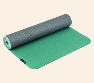 Yogimat PRO green-light gray, 183 x 61 cm x 5 mm