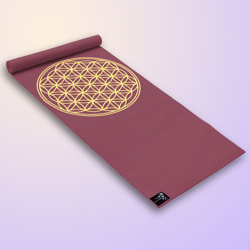 "Yogimat Basic ""Flower of Life"", Bordeaux"