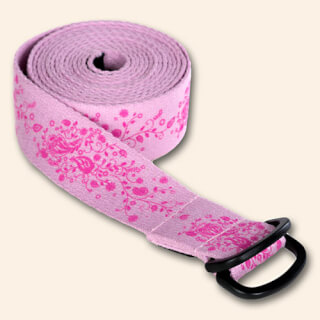 Yogibelt Ceinture de Yoga Indian Flower, rose, 260 x 4 cm