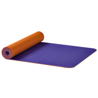 Yogamatte Earth OM Ako Yoga, Orange-Lila
