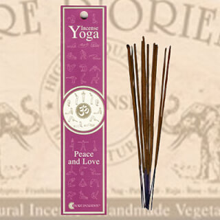 Peace and Love Yoga Incense Fiore D'Oriente 12 g, 8 pcs.