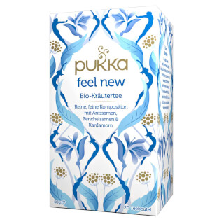 Feel New Pukka Tea, infusion bio, 20 sachets