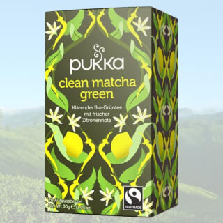 Clean Matcha Green Pukka Tea organic, 20 teabags