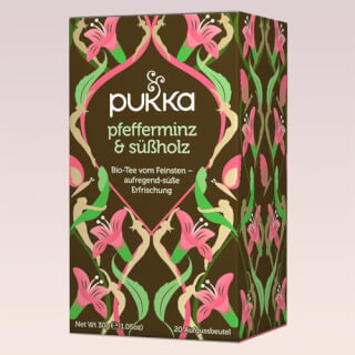 Peppermint & Licorice Pukka Tea organic, 20 teabags