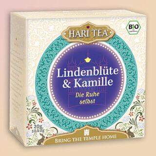 "Linden flowers & Chamomile ""Heart Center Calm"" Hari Tea organic, 10 teabags"