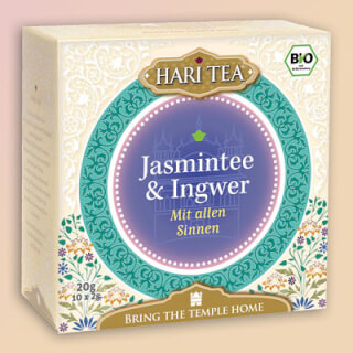"Jasmine Tea & Ginger ""Within & Without"" Hari Tea organic, 10 teabags"