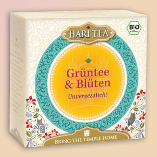 "Green Tea & Flowers ""Forget Me Not"" Hari Tea organic, 10 teabags"