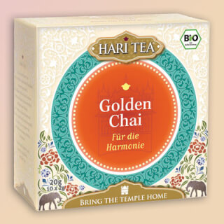 "Golden Chai ""In Harmony"" Hari Tea organic, 10 teabags"
