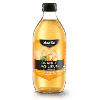 Yogi Tea Organic Ice Tea Orange Basil, 0.33 l