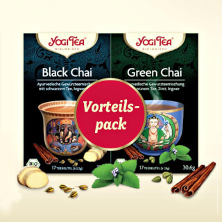 Duo-Pack Yogi Tea Black Chai & Green Chai