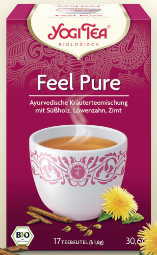 Feel Pure Yogi Tea bio, 17 sachets