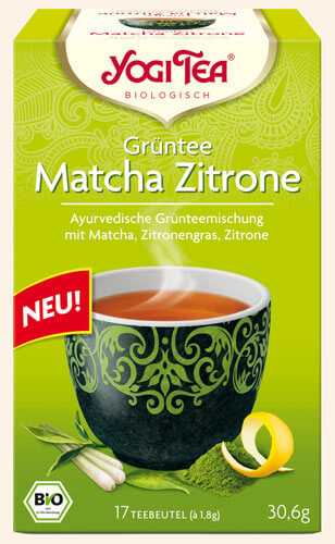 Green Tea Matcha Lemon Yogi Tea organic, 17 teabags