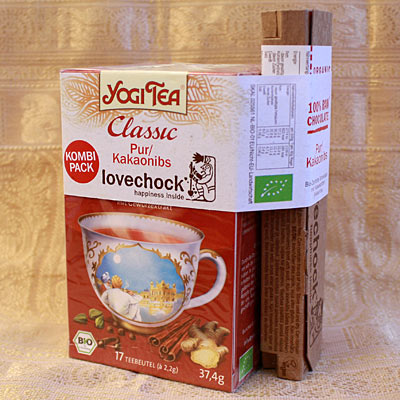 Combi-Pack Yogi Tea Classic + Lovechock Pur-Cacaonibs