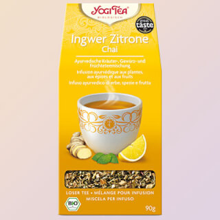 Ginger Lemon Chai Yogi Tea organic, 90 g loose