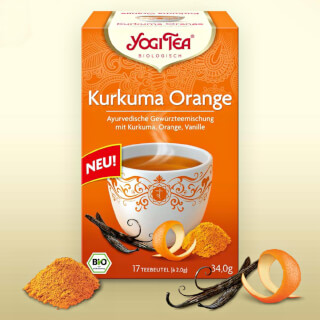 Curcuma Orange Yogi Tea organic, 17 teabags