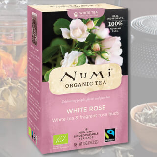 White Rose Numi Tea organic, 16 teabags