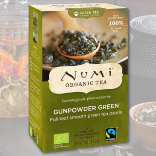 Gunpowder Green Numi Tea organic, 18 teabags