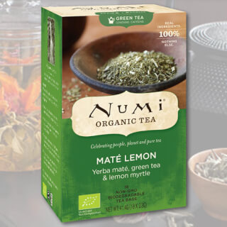 Mate Lemon Green Numi Tea organic, 18 teabags