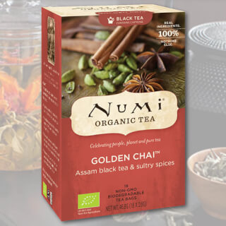 Golden Chai Numi Tea organic, 18 teabags