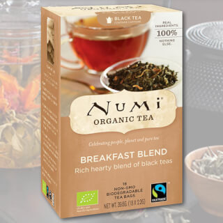 Breakfast Blend Numi Tea organic, 18 teabags