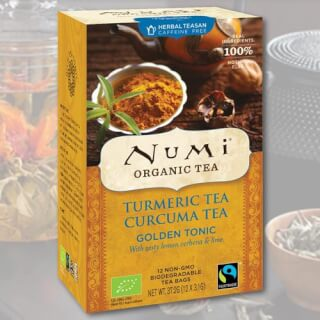 Golden Tonic Turmeric Numi Tea organic, 12 teabags