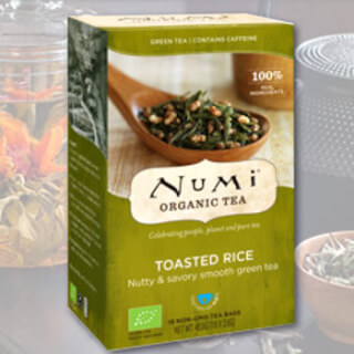 Toasted Rice Green Numi Tea organic, 18 teabags