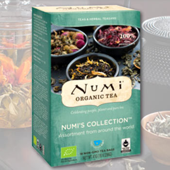 Numi's Collection tasting set, 18 teabags