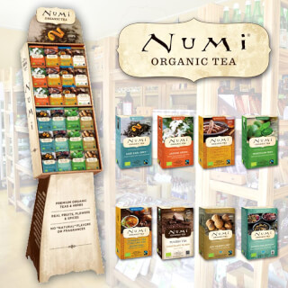 Numi Tea Display, 48 Numi Tees
