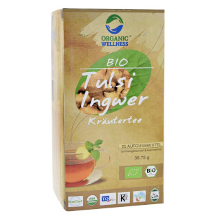 Tulsi Jengibre Herbal Tea bio, 25 bolsitas
