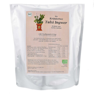 Tulsi Jengibre Herbal Tea bio, 100 bolsitas (155 g)