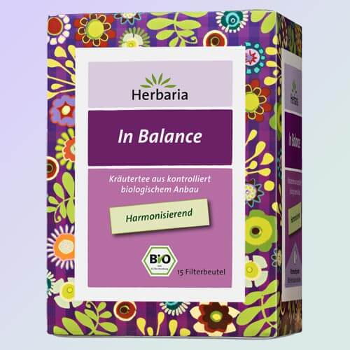 In Balance organic herbal tea, 15 teabags