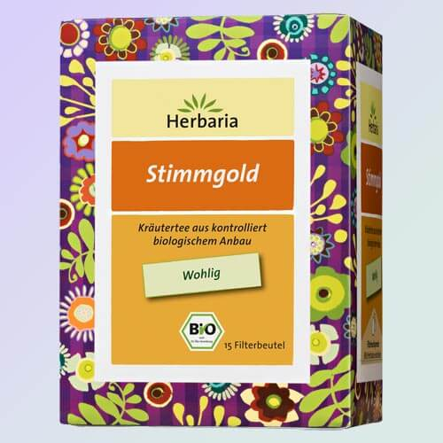 Vocal Gold organic herbal tea, 15 teabags