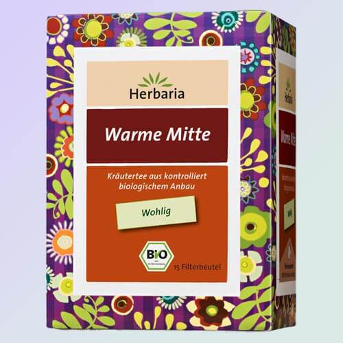 Warm Center organic herbal tea, 15 teabags