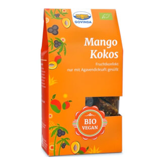 Mango Coconut Fruit Confectionary organic, 120 g