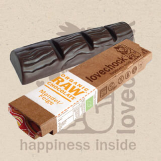 Lovechock Raw Chocolate Bar ALMOND-FIG, 40 g