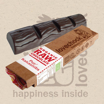 Lovechock Raw Chocolate Riegel PUR-KAKAONIBS, 40 g