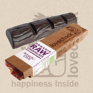 Lovechock Raw Chocolate Bar CHERRY-CHILI, 40 g