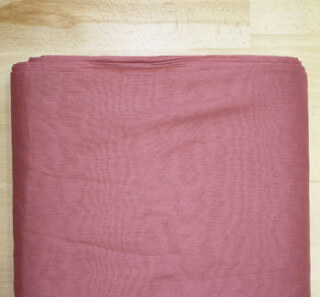 Turbanstoff Voile Altrosa - Old Rose, 1 Meter