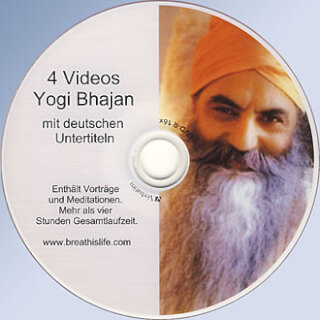 4 Videos Yogi Bhajan - Lectures & Meditations DVD