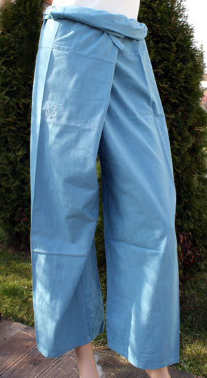 Thai trousers, Water-Blue *B-STOCK*