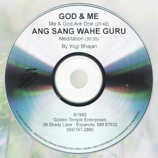 God and Me & Ang Sang Wahe Guru - Yogi Bhajan CD
