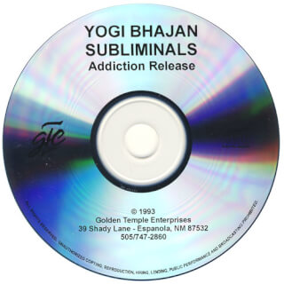 Yogi Bhajan Subliminals: Addiction Release CD