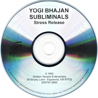 Yogi Bhajan Subliminals: Stress Release CD