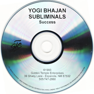 Yogi Bhajan Subliminals. Success CD