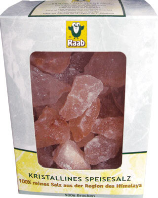 Crystalline salt rocks, window box, 900 g