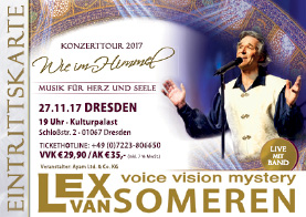Ticket Lex van Someren Concert, DRESDEN, 27.11.2017