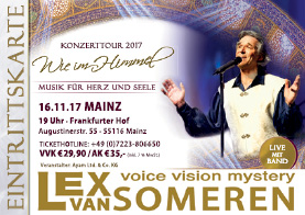 Ticket Lex van Someren Concert MAINZ, 16.11.2017