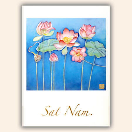 "Postcards ""Sat Nam Lotus Flowers"", 10 pcs."