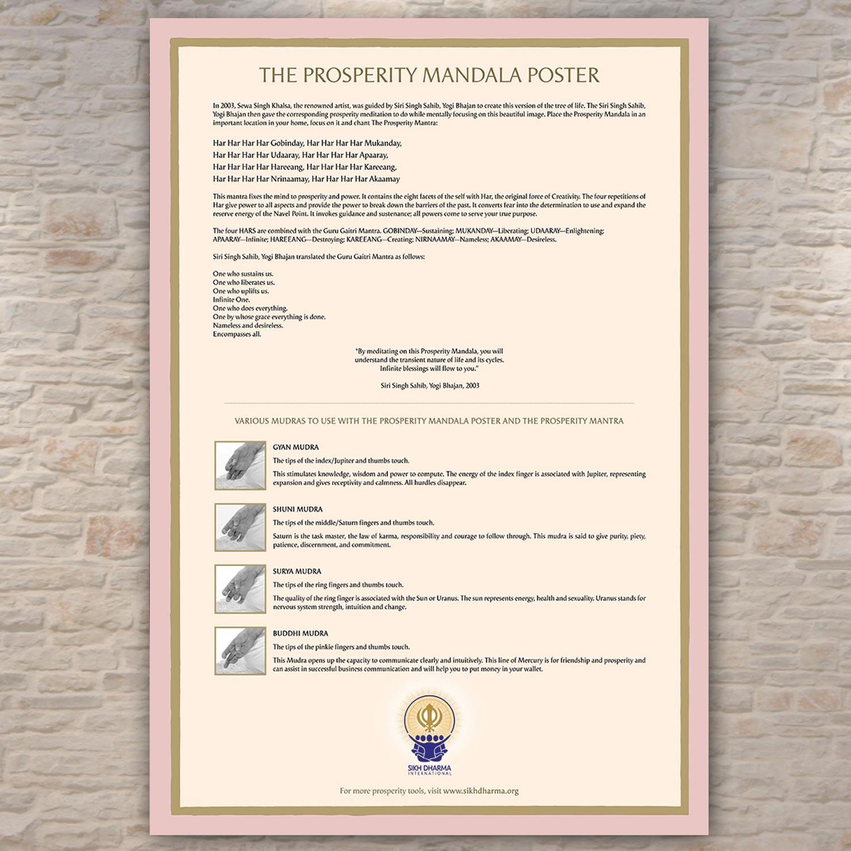 Prosperity Mandala Poster, approx  32 x 47 cm